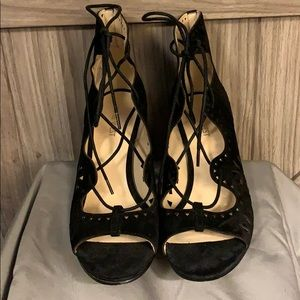 Nine West suede lace up sandal. Size 8. Like new!
